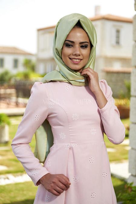 Mevra Pudra Yasmin Elbise