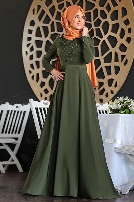 Nurkombin Haki Mahperi İncili Elbise