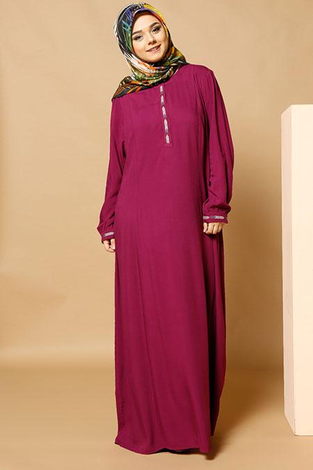 Alia Mürdüm Çıtçıt Detaylı Elbise