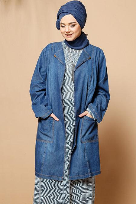 Alia Mavi Kot Ceket