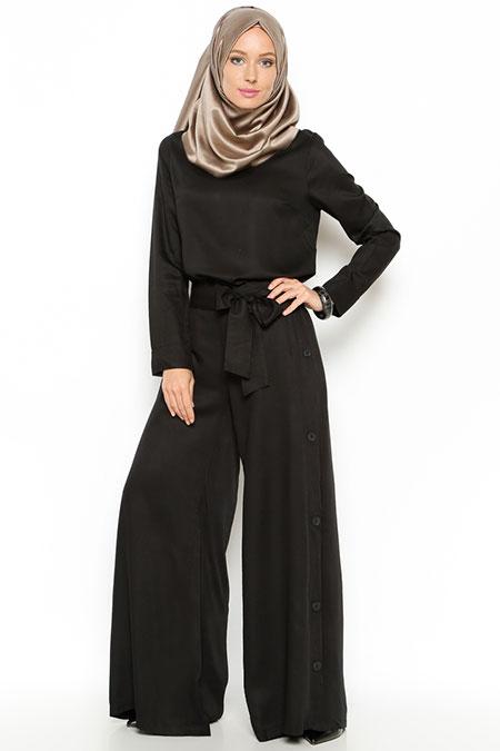 Allday Siyah Tunik & Pantolon İkili Takım