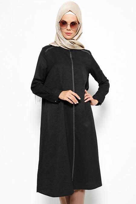 Allday Siyah Uzun Tunik