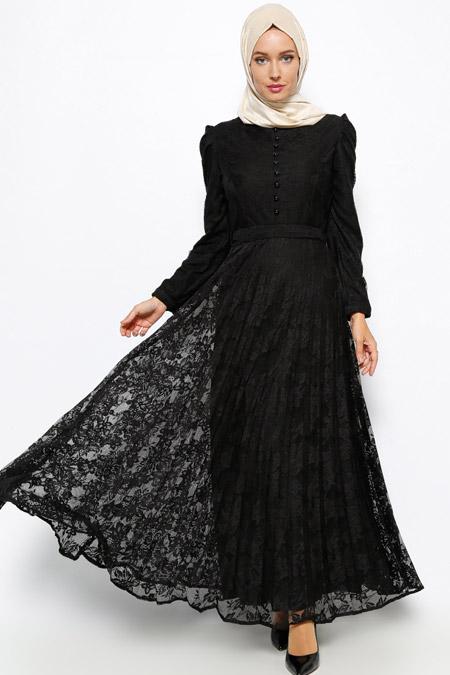 2871842c6bf1f BÜRÜN Siyah Dantelli Elbise Online Satış, İndirimli Satın Al