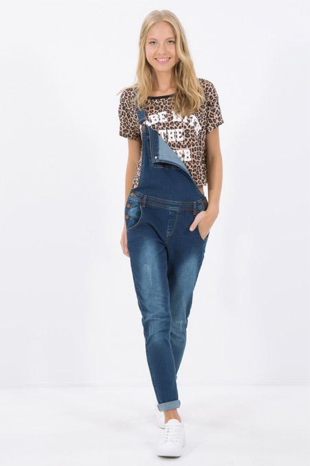 Koton Cep Detaylı Tulum Jean