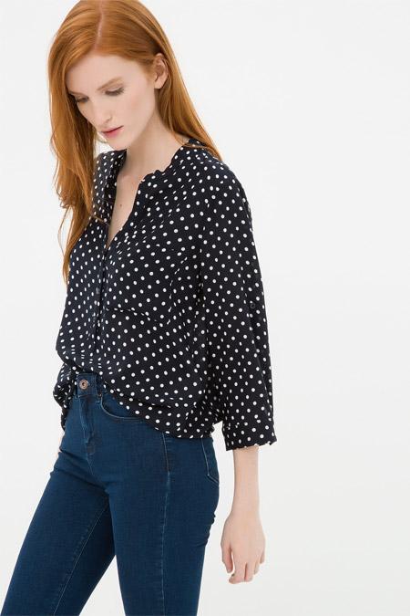 Koton Puantiye Detaylı Bluz