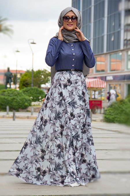 Lef ` Zen Mavi Beyza Elbise