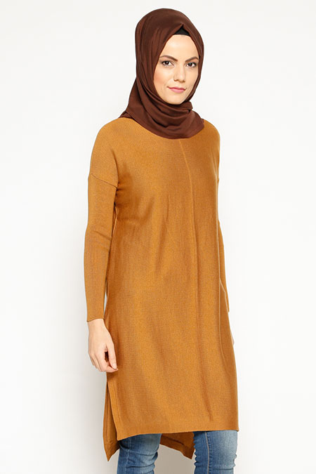 Seyhan Fashion Camel Triko Tunik