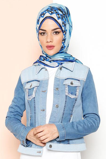 Yeşim Özcan Mavi Kot Ceket
