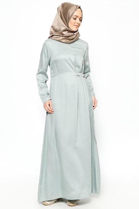 Allday Açık Nefti Beli Detaylı Elbise