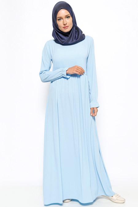 Dadali Açık Mavi Robadan Elbise