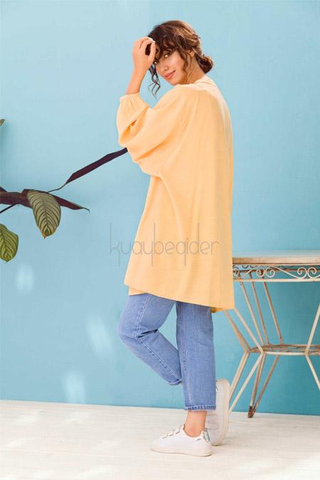 Kuaybe Gider Sarı Oyster Tunik