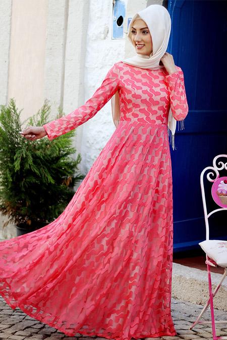 Nurkombin Narçiçeği Alanur Kalpli Elbise