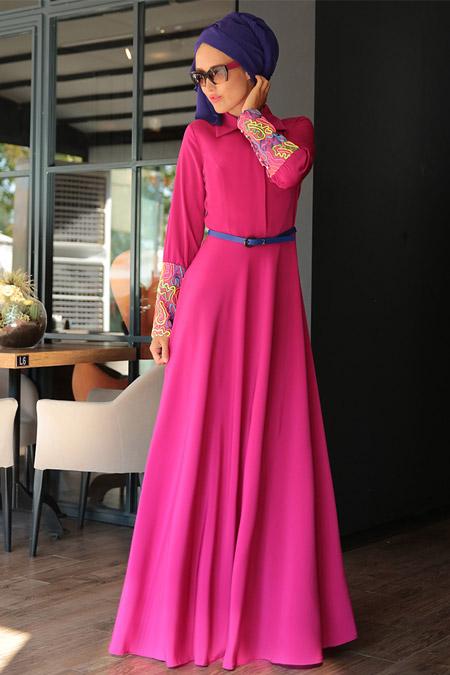 Selma Sarı Design Fuşya Lolita Elbise