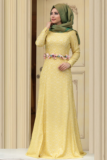 2007748cd0eda Zehrace Yağ Yeşili Hanin Abiye Elbise Online Satış, İndirimli Satın Al