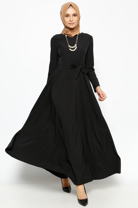 Jamila Siyah Kolyeli Elbise