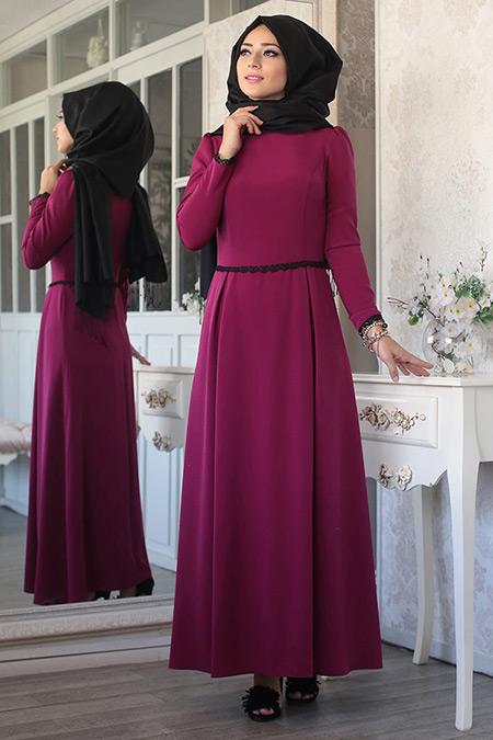 Lef ` Zen Fuşya Hale Elbise