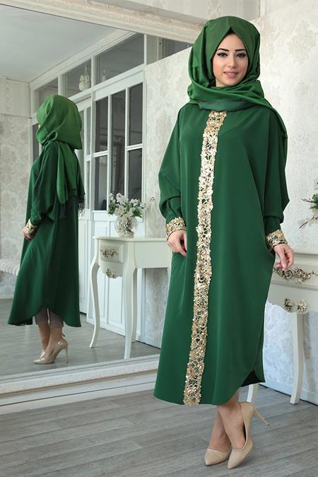 Lefzen Yeşil Elisa Ferace Tunik