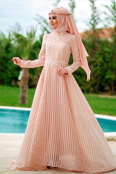 Minel Aşk Pudra Love Elbise