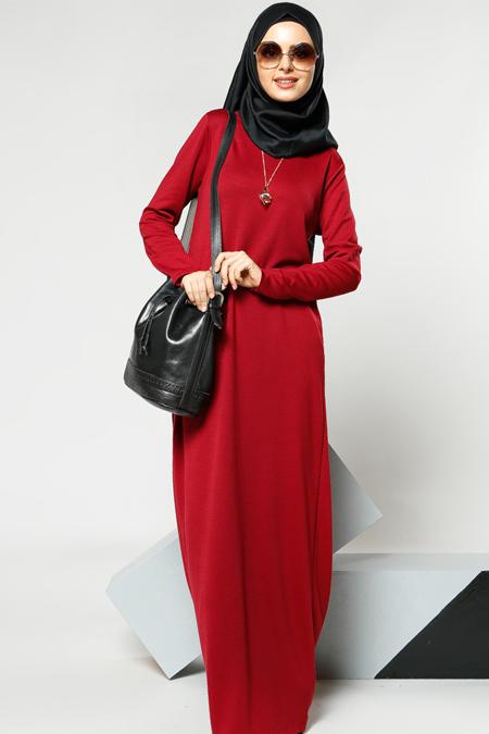 Refka Vişne Kolyeli Elbise