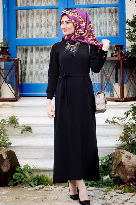 Seda Tiryaki Siyah Hira Elbise