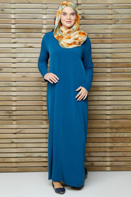 Alia Petrol Basic Elbise