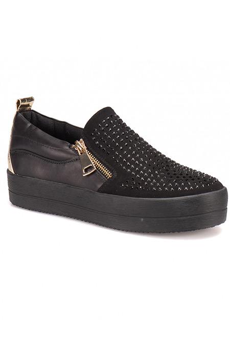 Flo Art Bella Siyah Kadın Ayakkabı