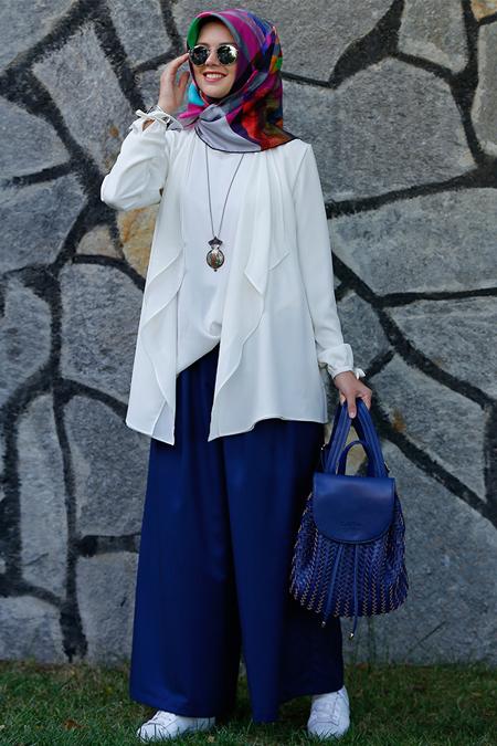 Kübra Biriktir Ekru Ceket & Bluz İkili Takım