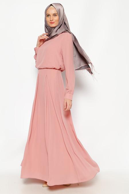LOREEN Pudra Pileli Elbise