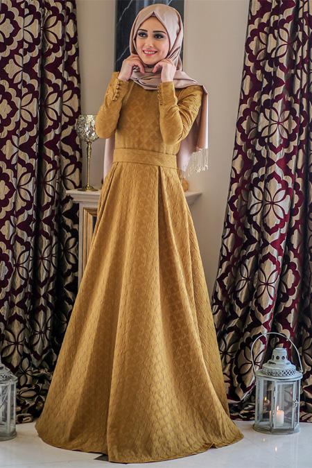 Minel Aşk Asit Sarı Karayel Elbise