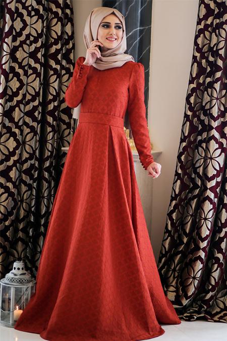 Minel Aşk Kiremit Karayel Elbise