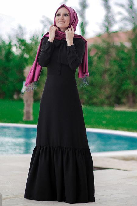 Minel Aşk Siyah Carmen Elbise