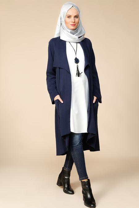 Puane Lacivert Tunik & Ceket İkili Takım