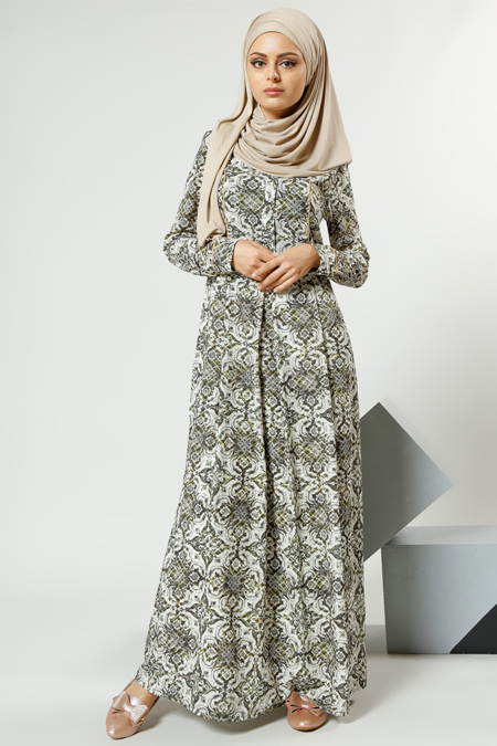 Refka Haki Desenli Elbise