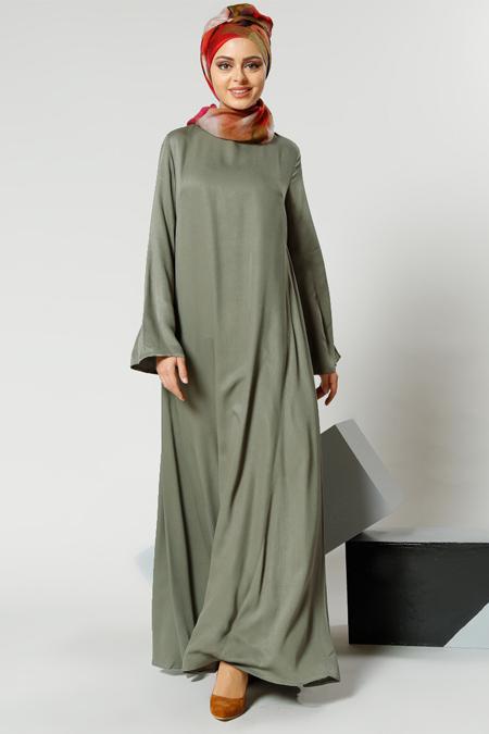 Refka Naturel Kumaşlı Salaş Elbise