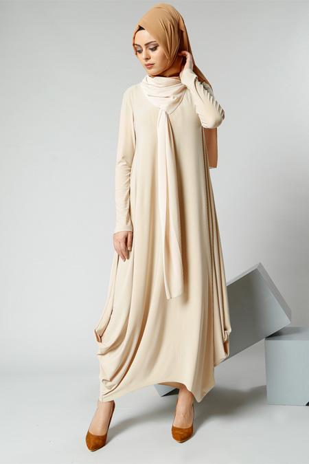 Refka Bej Şifon Parçalı Elbise