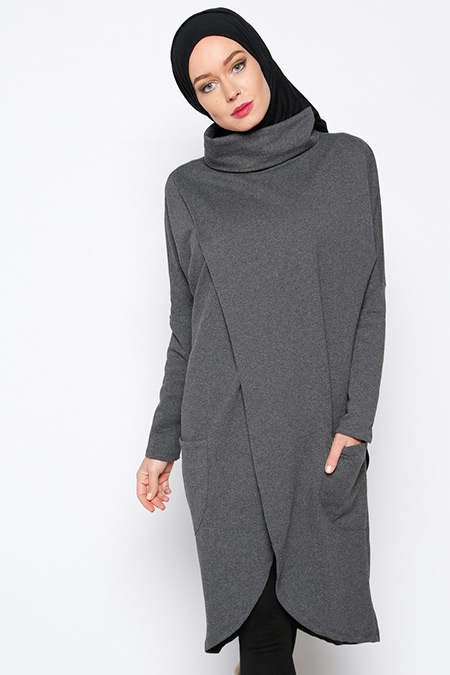 Everyday Basic Gri Anvelop Tunik