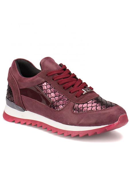 Flo Butigo Bordo Kadın Spor Ayakkabı
