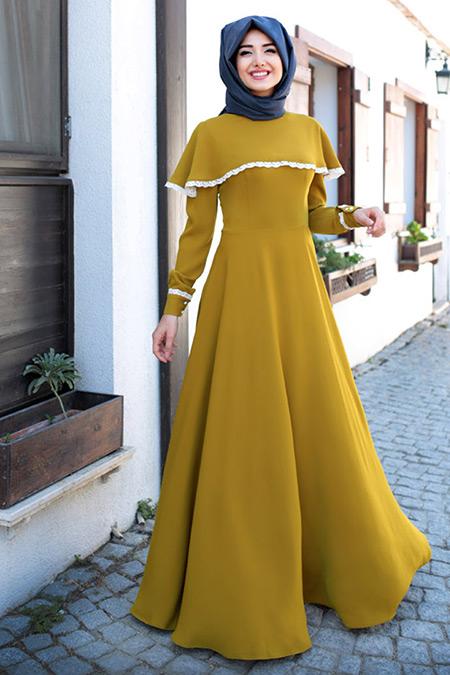 Gamze Özkul Oksit Güz Pelerin Elbise