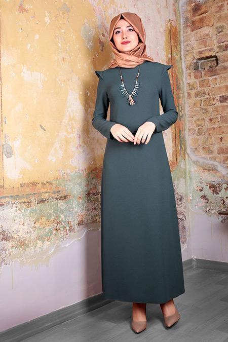 Gamze Özkul Zümrüt Aura Elbise