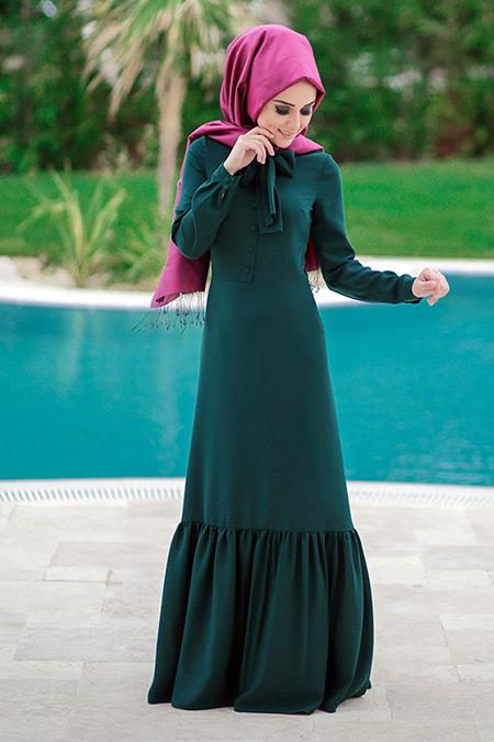 Minel Aşk Zümrüt Carmen Elbise