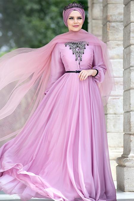 Muslima Wear Gül Kurusu Desert Rose Elbise