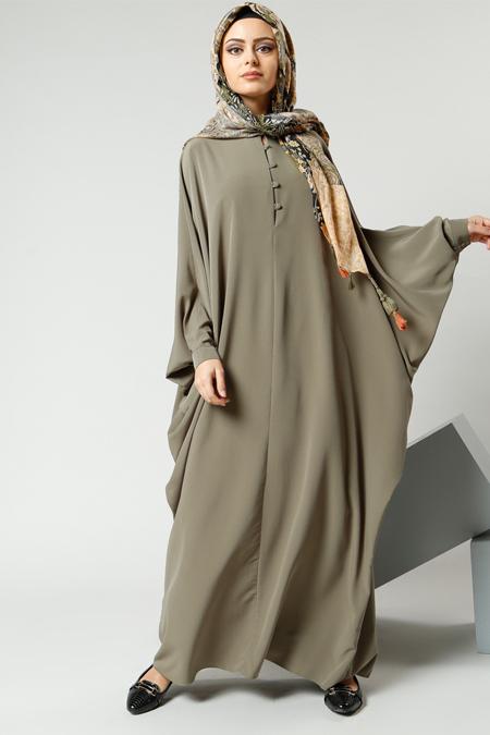 Refka Haki Salaş Önden Düğmeli Elbise