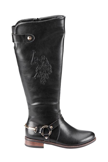 U.S. Polo Assn. Siyah Kadın Çizme