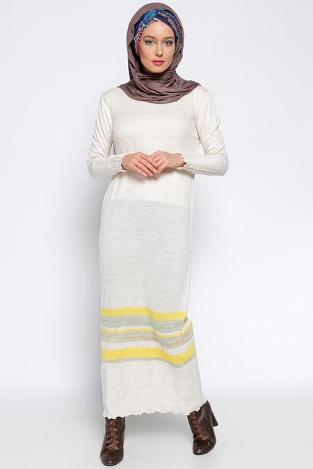 Zentoni Bej Triko Elbise