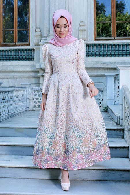 Gamze Özkul Ekru Dream Abiye Elbise