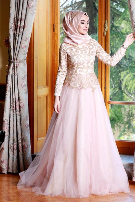 Gamze Özkul Pudra Diva Abiye Elbise