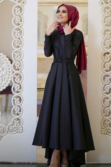 Minel Aşk Siyah Beste Elbise