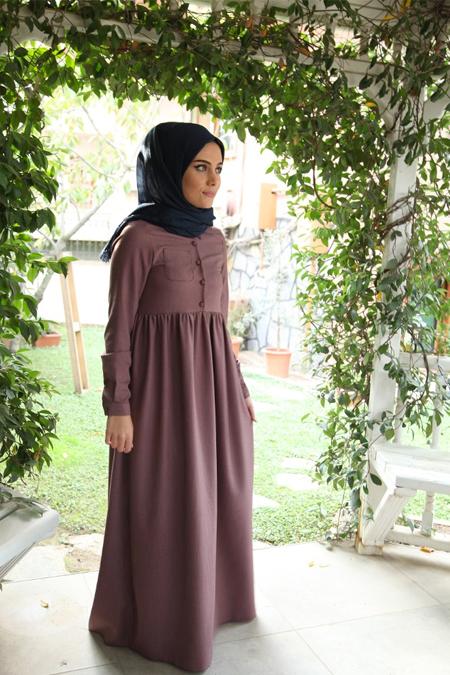 N11 Cep Detaylı Tesettür Elbise