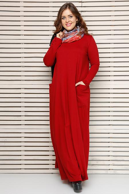 Alia Bordo Naturel Kumaşlı Elbise
