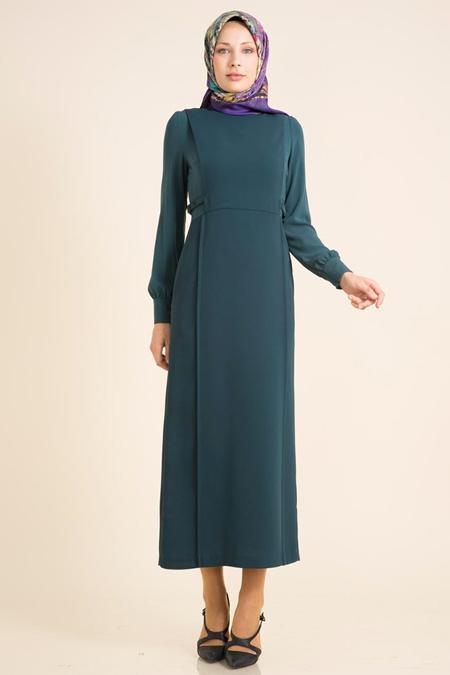 Kayra Zümrüt Yeşili Elbise